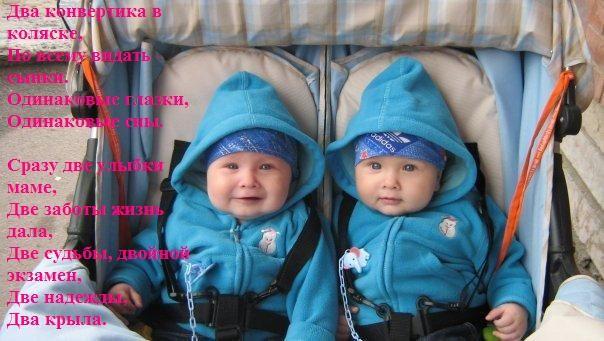 Поздравление с двойней мальчиков в стихах