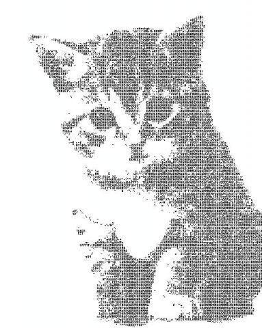 Классные картинки символами, кошек своими