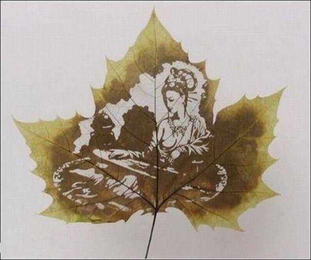 Смешные рисунки листьев и цветов, марта для