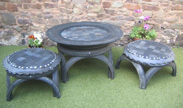 Стол из шин для сада и огорода своими руками мастер класс