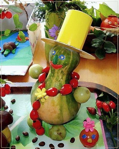 Поделки из фруктов и овощей для день