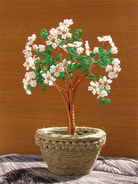 Цветы из мелкого бисера мастер класс с пошаговым фото