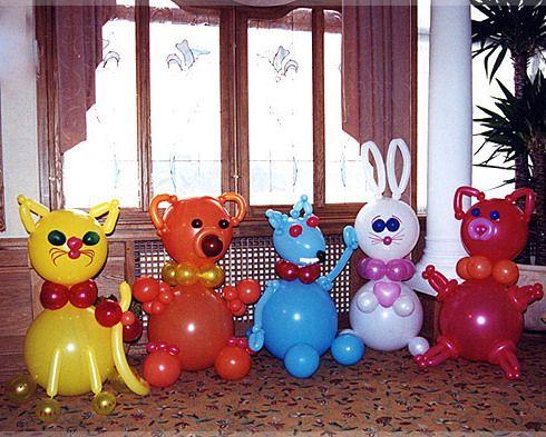 Игрушки из шариков цветы