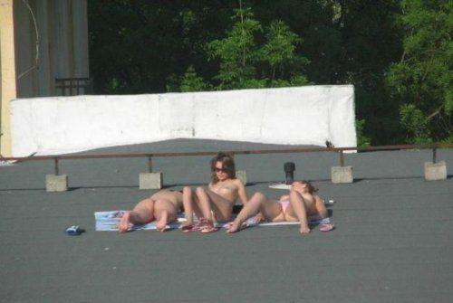 фото секс на крыше дома