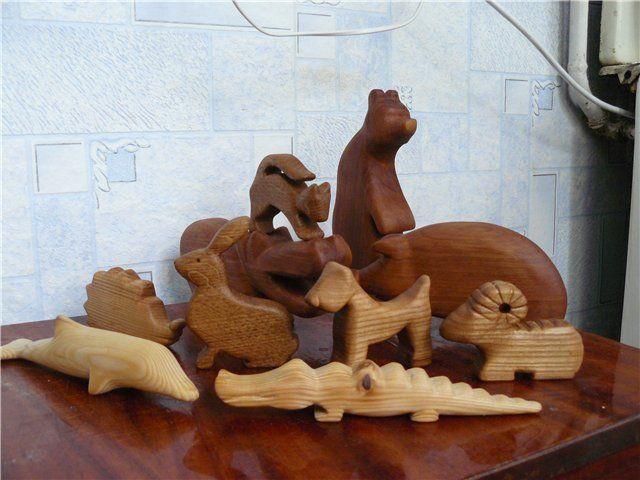 Поделки игрушки из дерева
