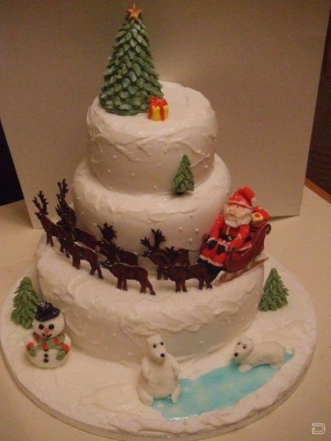 Новогодние украшения на торт фото