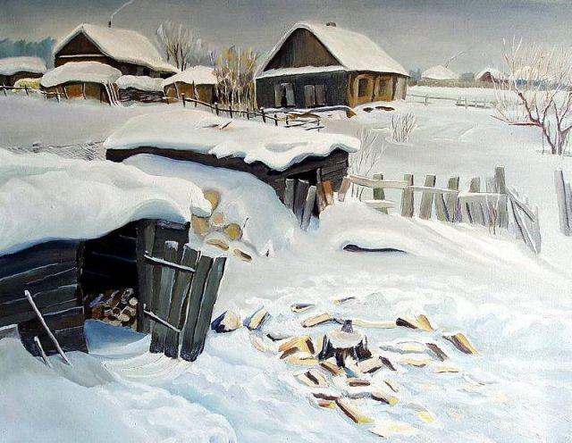 Скачать звук деревня зимой