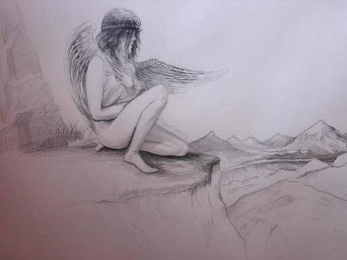 Рисунки одинокого ангела