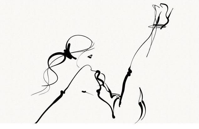 Графика рисунки одним штрихом